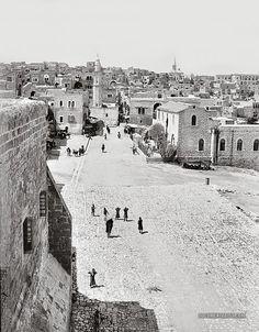 Bethlehem from the Church of the Nativity. Bethlehem, Palestine 1900-1920