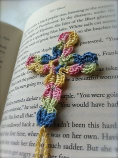 Crochet Cross Bookmark by CityGirlYarn on Etsy, $7.00