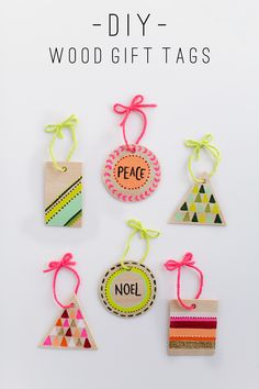 TELL:  DIY WOOD GIFT TAGS AND ORNAMENTS