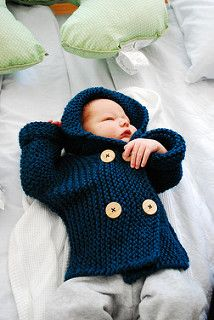 Ravelry: Lino's Coat pattern by Julie Partie Knitting Baby Girl, Arm Knitting, Knitting For Kids, Knitting Projects, Crochet Baby, Knit Crochet, Baby Knits, Coat Patterns, Baby Patterns