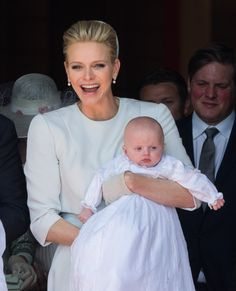 Princess Charlene of Monaco beamed with pride at the christening of her twins. Click through to see the beautiful pictures!