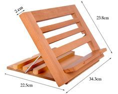Book Stand Holder YUMU Adjustable American Beech Reading Stand Book Rest Ipad Stand Desk Organizer for Office Home