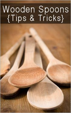 wooden spoon tips. I LOVE my wooden spoons! Wood Spoon, Spoon Art, Baking Tips, Kitchen Hacks, Cleaning Hacks, Cleaning Solutions, Deep Cleaning, Wood Turning, Homemaking