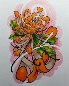 Resultado de imagen para crisantemo flores tattoo
