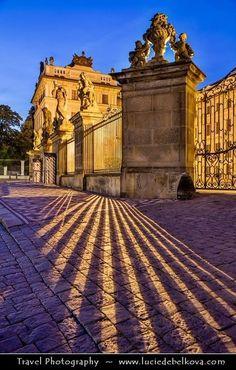 Entrance of Prague castle, Czechia