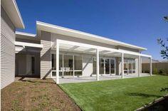basic white or aluminium sliding door style and louvre windows