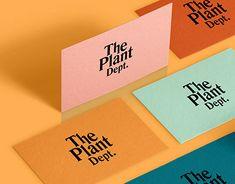 The Plant Dept. visual identity by Alessandro Laezza Corporate Design, Corporate Branding, Self Branding, Brand Identity Design, Graphic Design Branding, Business Branding, Brochure Design, Personal Branding, Business Card Design