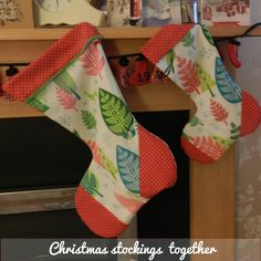 Our own Christmas Stocking pattern - free from our blog, or come and make with us at our Christmas Sewing Workshops.