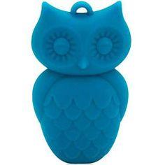 Blue Hawaiian Owl Pendant Nursing Necklace by Jellystone - http://www.247babygifts.net/blue-hawaiian-owl-pendant-nursing-necklace-by-jellystone/