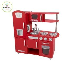 A shiny red kitchen perfect for both my boy and girl - and the price is right at $145