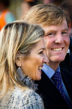Crown Prince Willem-Alexander and Crown Princess Maxima of The Netherlands starts the Koningsspelen (King's games) at the Triangel school and Het Palet school in Enschede