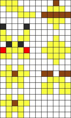 3D Pikachu Perler Bead Pattern / Bead Sprite