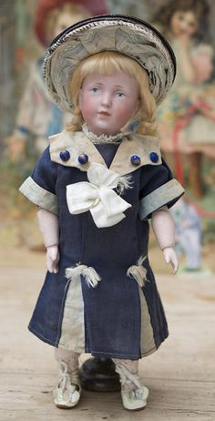One of the rarer dolls from the art series, having very choice bisque and sculpting!   Very rare find model in wonderful petite size with beautiful