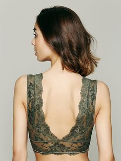 Intimately Galloon Lace Deep V Bra at Free People Clothing Boutique