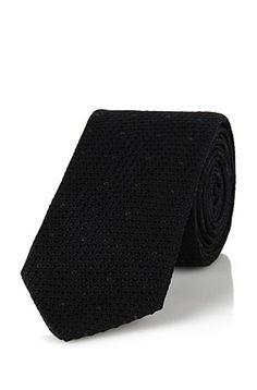 Corbata de seda: 'Tie 6cm', Negro - Hugo Boss