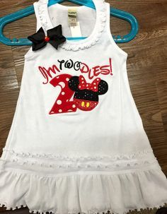 Minnie Mouse 2nd birthday dress minnie by LolliePopsBoutique