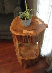 stump end table - Google Search