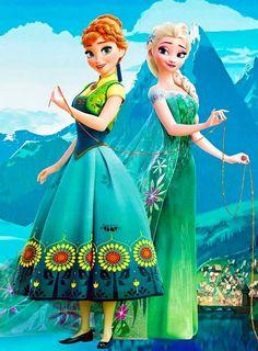 Anna and Elsa. Frozen Fever.