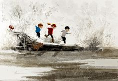 Winter play  #pascalcampionart