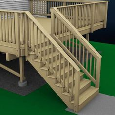 Illustration of Deck Stairs. 2019 Illustration of Deck Stairs. The post Illustration of Deck Stairs. 2019 appeared first on Deck ideas. Exterior Stair Railing, Outdoor Stair Railing, Deck Railing Design, Patio Stairs, Wood Stairs, Deck Design, Patio Decks, Deck With Stairs, Stair Design