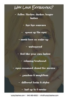 So many reasons to love lash extensions
