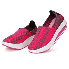 huge discount 184b5 9e2ec Women s Shoes Sneakers Stretch Casual Breathable Knit Shook (7, Red) -  Brought to · Ocasional De Las MujeresModa ...