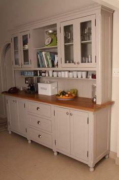 kitchen dresser - like a giant Hoosier cabinet ; Kitchen Dresser, Kitchen Redo, Kitchen Pantry, Kitchen Furniture, Kitchen Remodel, Kitchen Dining, Dining Rooms, Furniture Stores, Kitchen Buffet Cabinet