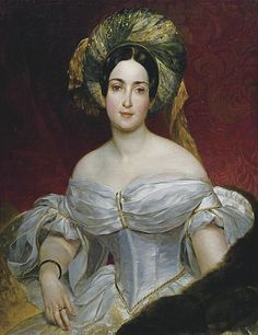 Fashion and headdress 1830s
