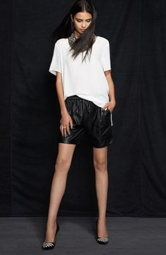 Faux Leather Bermuda Shorts - Nordstrom