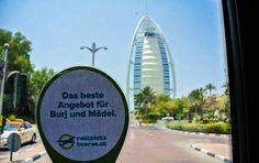 #Restplatzbörse unterwegs in #Dubai, Fensterblick auf das Hotel Burj Al Arab