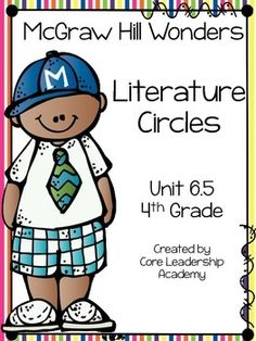 Thinkmark Literature Circle graphic organizer ~ Unit 6.5~There are 4 different levels approaching, on, ell, and advance!  Great for literacy centers! Enjoy!