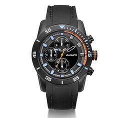 Relógio Akium Masculino Borracha Preta - 1U05G-05-Gun-Orange