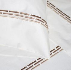 Luxury Bed Linens For Less New Bed Designs, Hand Designs, Border Embroidery Designs, Custom Embroidery, Machine Embroidery, Cleaning Tarnished Silver, Luxury Sheets, Luxury Bedding, Embroidered Bedding