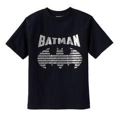 Boys 4-7 DC Comics Batman Logo Tee, Size: 5-6, Black