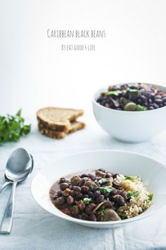Caribbean black beans. Done in just 20 minutes. Gluten free, vegan and healthy for you!