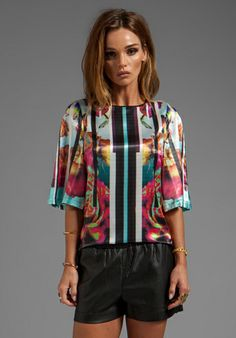 CLOVER CANYON Rose Stripe Top in Multi - Tops