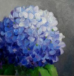 Hydrangea Painting, Acrylic Painting Flowers, Canvas Painting Tutorials, Flower Phone Wallpaper, Spring Painting, Flower Art, Painting & Drawing, Watercolor Paintings, Hydrangeas