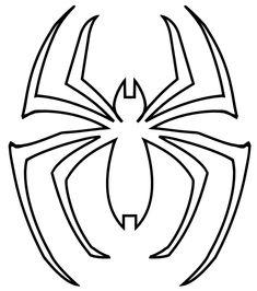 Of Spider Man Logo Outline