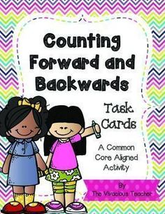 Counting Forward and Backwards Task Cards: These colorful task cards will help students practice number fluency. Grades K-2 ~ The Vivacious Teacher