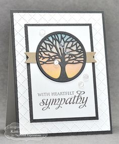 Heartfelt Tree from Joyful Creations with Kim using products from Taylored Expressions. Cricut Cards, Stampin Up Cards, Card Making Inspiration, Making Ideas, Get Well Cards, Heart Cards, Images Google, Card Sketches, Sympathy Cards