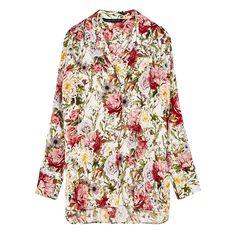 Chemise à imprimé floral en viscose, de Zara - Nos coups de cœur mode du mois d'avril 2017