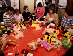 Filling and dressing stuffed animals
