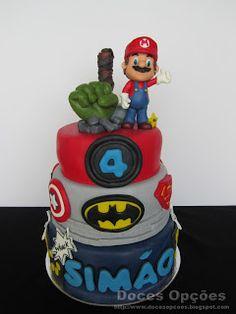 Doces Opções: O Super Mario juntou-se aos Super Heróis no 4.º an...