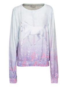 WILDFOX Garden Trot Multi Gemusterter Sweater - Sweaters & Hoodies