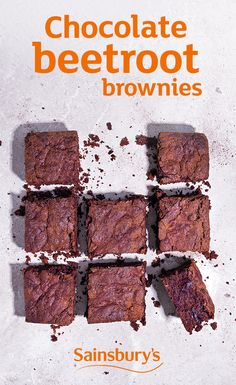Beetroot makes these chocolate brownies even more squidgy and delicious.
