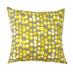 "JL Yellow Pillow Cover- Mustard Pillow- Martini Dots Pillow- Amy Butler Pillow Yellow Cushion 16x16"" or 17 x 17"" or 18 x 18"" Pillow Covers."