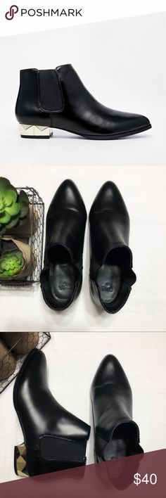 ASOS ALL DRESSED UP Chelsea Ankle Boots ASOS All Dressed Up Chelsea Ankle boots, excellent used condition, no scuffs.  Please note that these are labeled British size 6, which is the same as US size 8. ASOS Shoes Ankle Boots & Booties