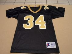 RICKY WILLIAMS  34 NEW ORLEANS SAINTS VINTAGE CHAMPION JERSEY SIZE YOUTH M  NFL 5b42e4f78