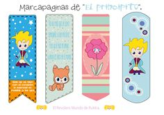 Freebies. Marpáginas Reto El Principito. Little Prince Quotes, The Little Prince, Free Planner, Happy Planner, Prince Birthday Theme, Watercolor Paintings Nature, Gifts For Art Lovers, Bookmarks Kids, Baby Shawer