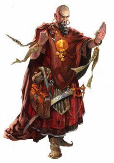 m Wizard Magic Book Scimitar Robes components midlvl traveler